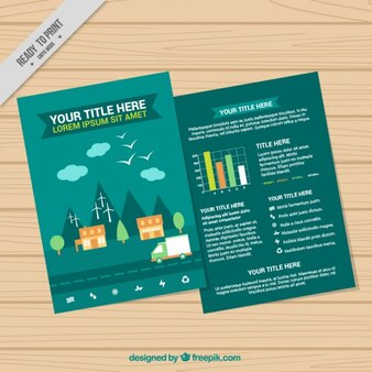 Plantilla de infografía ecológica