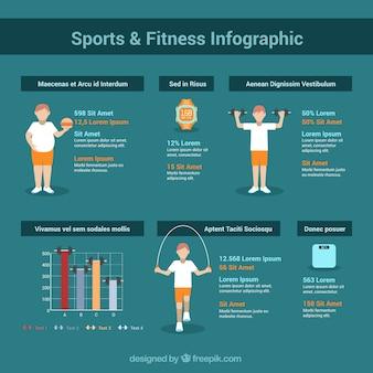 Plantilla de infografía fitness