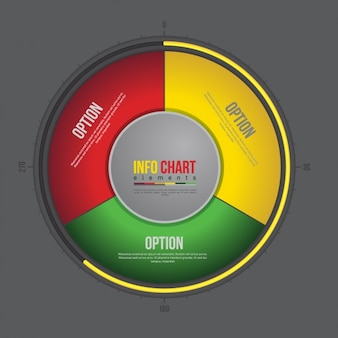 Plantilla de infografía multicolor redonda