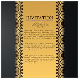 Plantilla de invitación de boda en estilo vintage