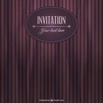 Plantilla de invitación estilo retro