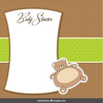 Plantilla de la bienvenida del bebé en el estilo de scrapbook