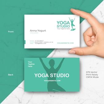 Plantilla de la tarjeta de visita de la yoga