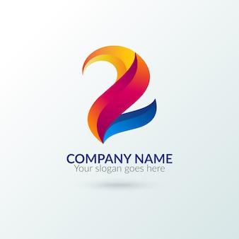 Plantilla de logo abstracto