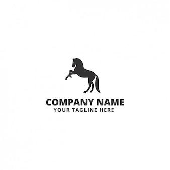 Plantilla de logo con forma de caballo