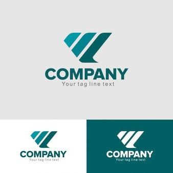 Plantilla de logo con tres líneas