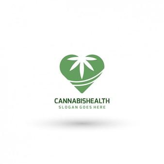 Plantilla de logo de cannabis medicinal