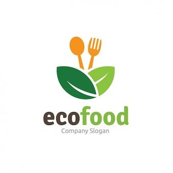 Plantilla de logo de comida ecológica