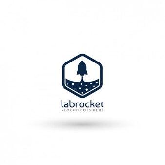 Plantilla de logo de compañía de cohetes