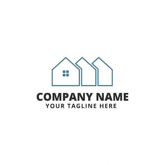 Plantilla de logo de inmobiliaria