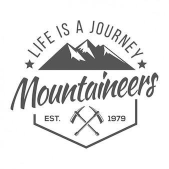 Plantilla de logo de montañismo