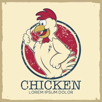 plantilla de logo de pollo