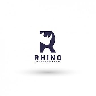 Plantilla de logo de rinoceronte