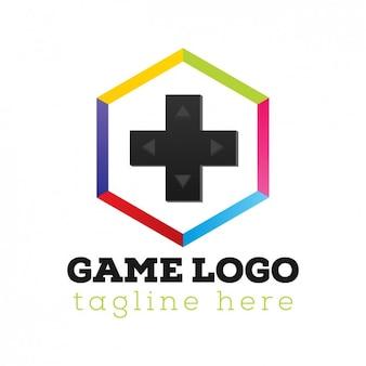 Plantilla de logo de video consola