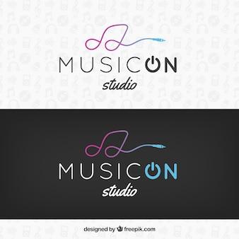 Plantilla de logo musical moderno