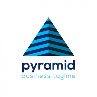 Plantilla de logo piramidal de negocios