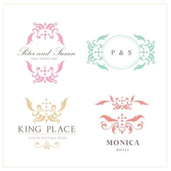 Plantilla de logos abstractos