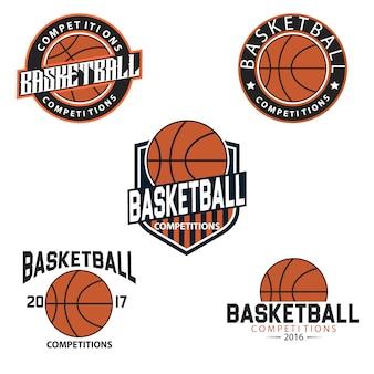 Plantilla de logos de baloncesto