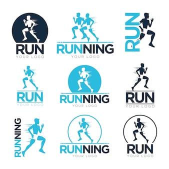 Plantilla de logos de running