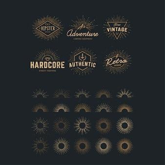 Plantilla de logos dorados