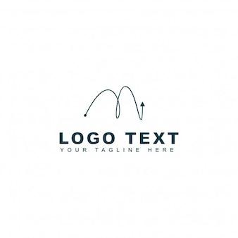 Plantilla de logotipo de la letra m