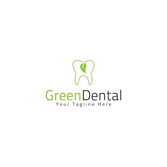 Plantilla de logotipo dental verde