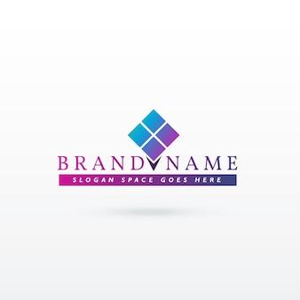 Plantilla de logotipo moderno de marca