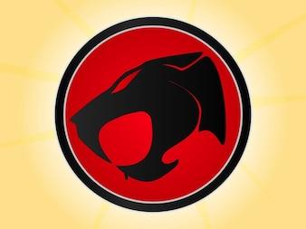 plantilla de logotipo para los gatos trueno