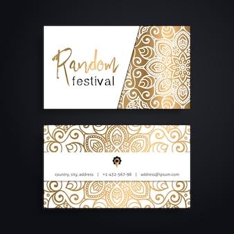 Plantilla de lujo de tarjeta de visita de mandala