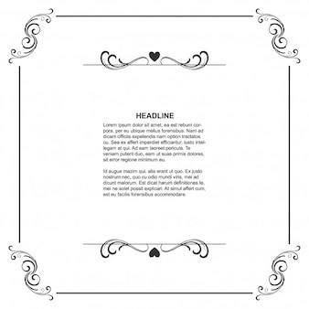 Plantilla de marco floral con espacio para texto