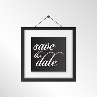 Plantilla de marco para reserva de boda