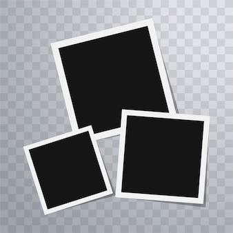 Plantilla de marcos de foto polaroid