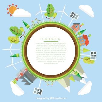 Plantilla de mundo ecológico