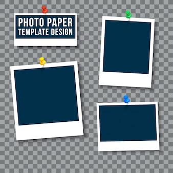 Plantilla de papel fotográfico