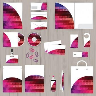 Plantilla de papelería corporativa a color