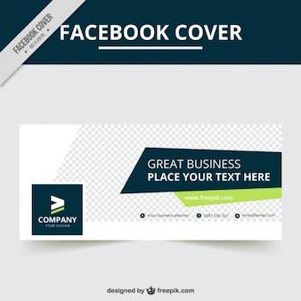 Plantilla de portada geométrica de facebook de negocios