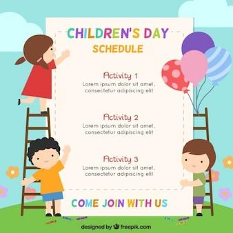 Plantilla de programa del día de los niños