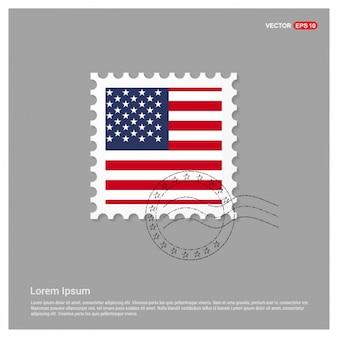 Plantilla de sello bandera americana