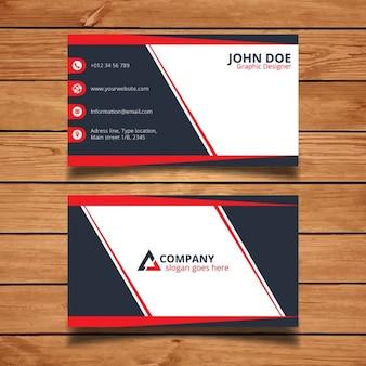 Plantilla de tarjeta corporativa roja y negra
