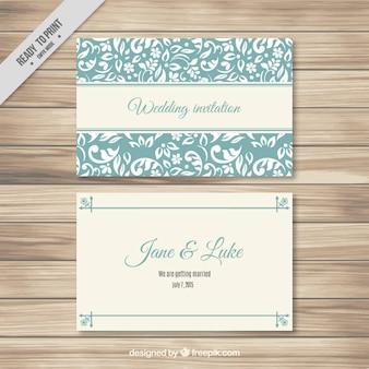 Plantilla de tarjeta de boda turquesa elegante