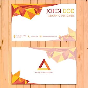 Plantilla de tarjeta de visita con formas poligonales