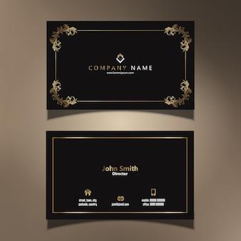 Plantilla de tarjeta de visita con un diseño elegante