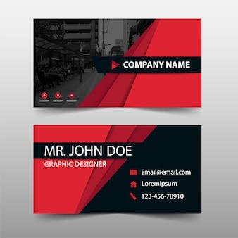 Plantilla de tarjeta de visita corporativa roja