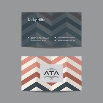 Plantilla de tarjeta de visita en zigzag
