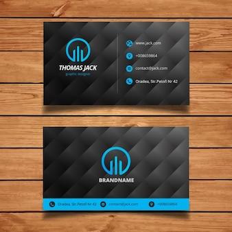 plantilla de tarjeta de visita moderna azul y negro
