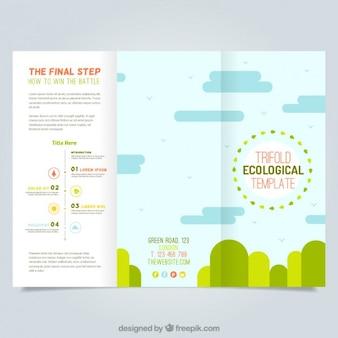 Plantilla de tríptico ecológico
