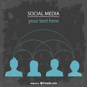 Plantilla de usuarios de redes sociales