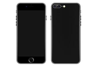 Plantilla de vector de teléfono móvil negro