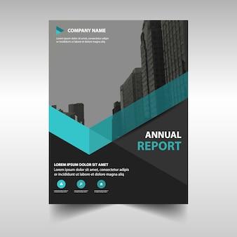 Plantilla elegante azul de reporte anual corporativo