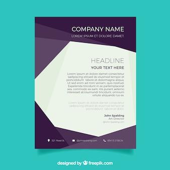 Plantilla elegante de carta corporativa abstracta